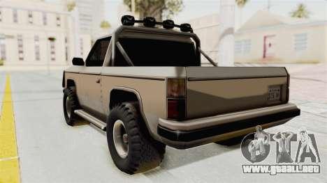 Rancher Style Bronco para GTA San Andreas left