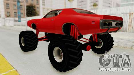 Dodge Charger 1971 Monster Truck para GTA San Andreas left