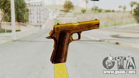 M1911 Gold para GTA San Andreas tercera pantalla