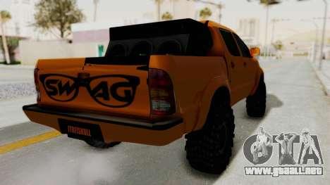 Toyota Hilux 2010 Off-Road Swag Edition para la visión correcta GTA San Andreas