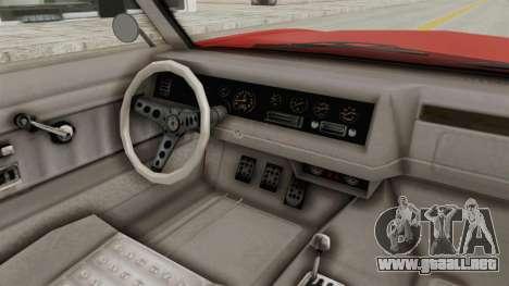 GTA 5 Declasse Sabre GT2 IVF para visión interna GTA San Andreas