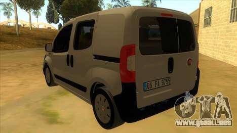 Fiat Fiorino Combi Mix para GTA San Andreas vista posterior izquierda