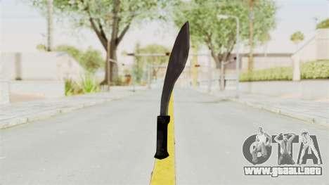 Liberty City Stories - Machete para GTA San Andreas segunda pantalla