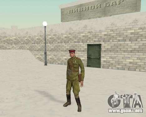 Pak combatientes del ejército rojo para GTA San Andreas tercera pantalla