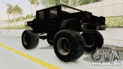 Hummer H1 Monster Truck TT para GTA San Andreas vista posterior izquierda