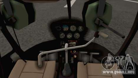 Helicopter de la Policia Nacional del Paraguay para GTA San Andreas vista hacia atrás
