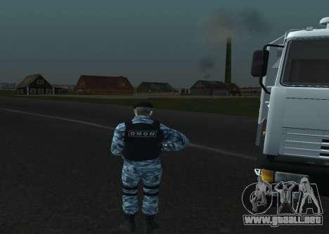 Un Policía Antidisturbios para GTA San Andreas sucesivamente de pantalla