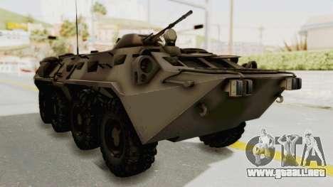 BTR-80 Desert Turkey para la visión correcta GTA San Andreas