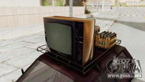 Zastava Yugo Koral 55 para GTA San Andreas vista hacia atrás