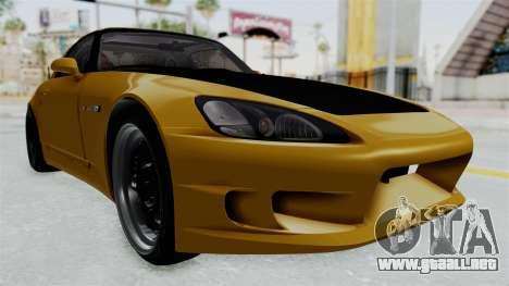 Honda S2000 S2K-AP1 para la visión correcta GTA San Andreas