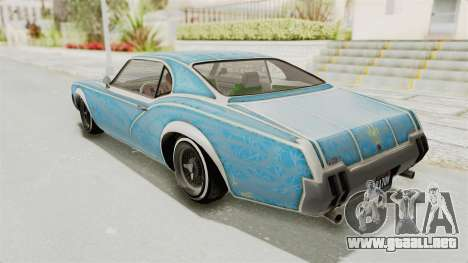 GTA 5 Declasse Sabre GT2 IVF para las ruedas de GTA San Andreas