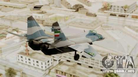 MIG-29A IRIAF para GTA San Andreas left