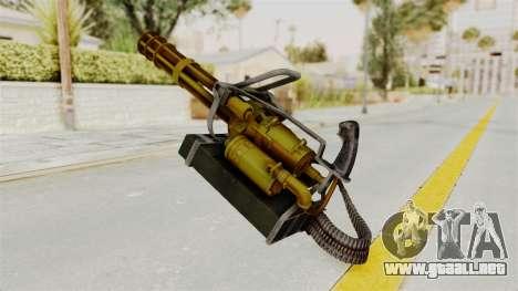 Minigun Gold para GTA San Andreas segunda pantalla