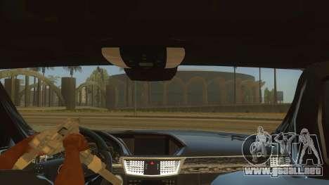 Mercedes Benz E250 Autoridad De La Herramienta para visión interna GTA San Andreas