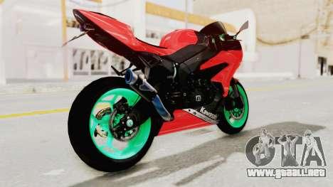 Kawasaki Ninja ZX-6R Highmodif para GTA San Andreas left