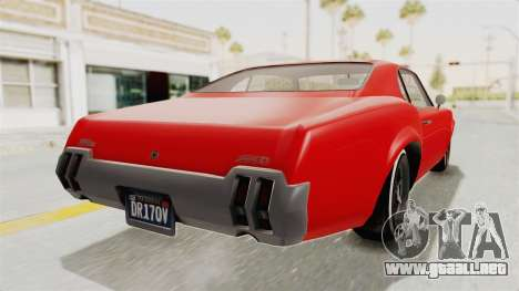 GTA 5 Declasse Sabre GT2 IVF para GTA San Andreas left