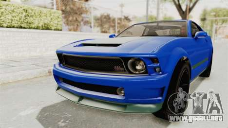 GTA 5 Vapid Dominator v2 IVF para GTA San Andreas