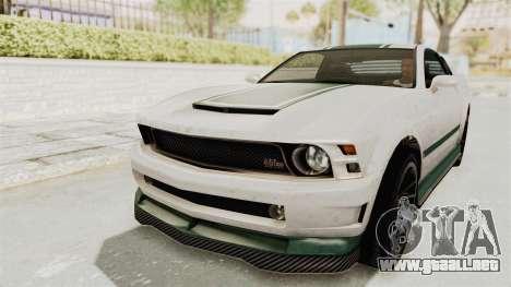 GTA 5 Vapid Dominator v2 IVF para la vista superior GTA San Andreas