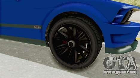GTA 5 Vapid Dominator v2 IVF para GTA San Andreas vista hacia atrás