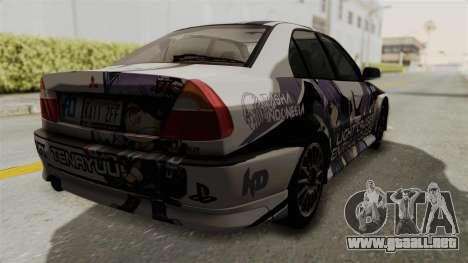 Mitsubishi Lancer Evolution VI Tenryuu Itasha para GTA San Andreas left