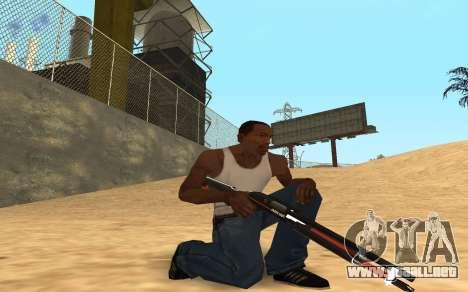 Shotgun Cyrex para GTA San Andreas sucesivamente de pantalla