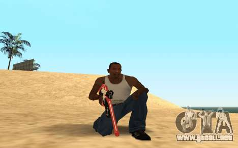 Rifle Cyrex para GTA San Andreas sucesivamente de pantalla