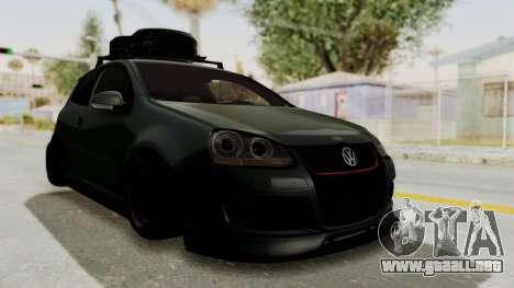 Volkswagen Golf MK5 JDM para GTA San Andreas vista posterior izquierda