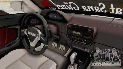 Honda Civic para visión interna GTA San Andreas
