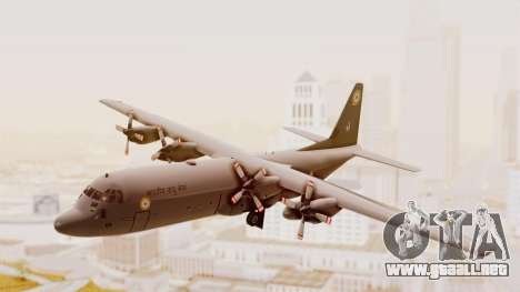 C130 Hercules Indian Air Force para GTA San Andreas vista posterior izquierda