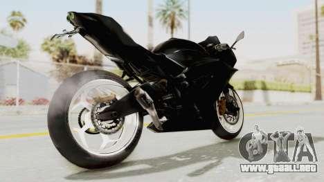 Kawasaki Ninja 250RR Mono Sport para GTA San Andreas vista posterior izquierda