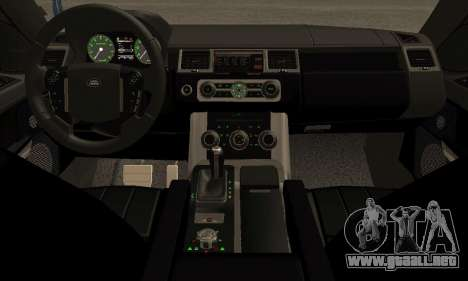 Range Rover Sport Tuning para GTA San Andreas vista hacia atrás