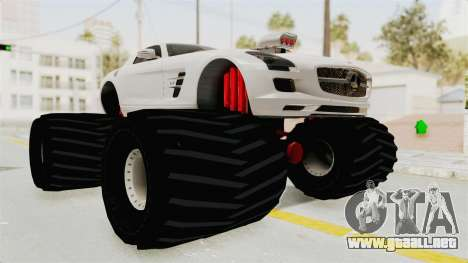 Mercedes-Benz SLS AMG 2010 Monster Truck para la visión correcta GTA San Andreas