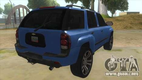 Chevrolet TrailBlazer para la visión correcta GTA San Andreas
