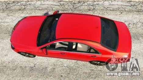 GTA 5 Mercedes-Benz S500 (W222) [bridgestone] v2.1 vista trasera