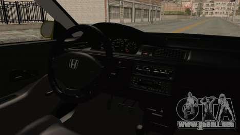 Honda Civic Fast and Furious para visión interna GTA San Andreas