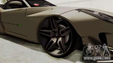 Jaguar F-Type L3D Store Edition para GTA San Andreas vista hacia atrás