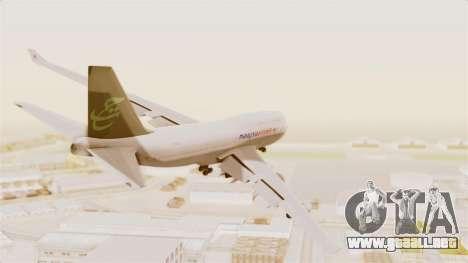 Boeing 747-400 Malaysia Airlines Tabung Haji para la visión correcta GTA San Andreas