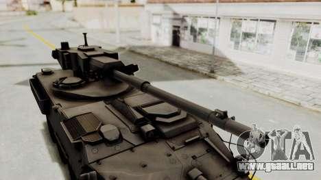 M1128 Mobile Gun System IVF para GTA San Andreas vista hacia atrás