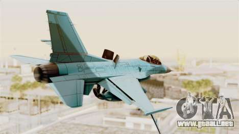 F-16 Fighting Falcon Civilian para GTA San Andreas left