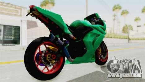 Kawasaki Ninja 250R Race para GTA San Andreas vista posterior izquierda