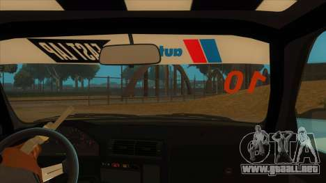 BMW 325i Turbo para visión interna GTA San Andreas