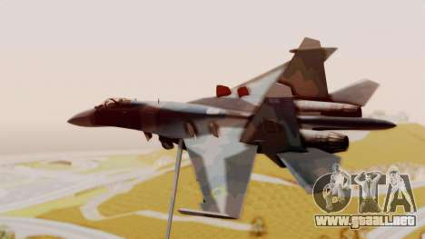 Sukhoi SU-27 Flanker A Ukrainian Air Force para GTA San Andreas left