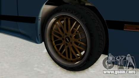 Mazda RX-7 FC3S para GTA San Andreas vista hacia atrás