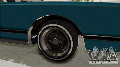 GTA 5 Dundreary Virgo Classic Custom v3 IVF para GTA San Andreas vista hacia atrás