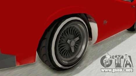 GTA 5 Declasse Sabre GT2 IVF para GTA San Andreas vista hacia atrás