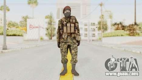 COD Black Ops Russian Spetznaz v4 para GTA San Andreas segunda pantalla