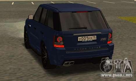 Range Rover Sport Tuning para la visión correcta GTA San Andreas