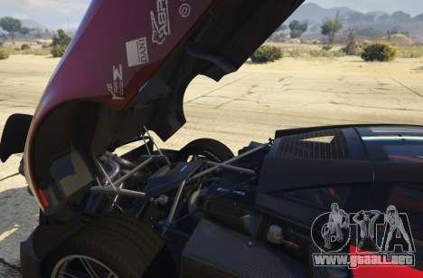 GTA 5 2016 Pagani Huayra BC vista lateral trasera derecha