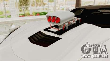 Chevrolet Corvette Stingray C7 Monster Truck para GTA San Andreas vista hacia atrás
