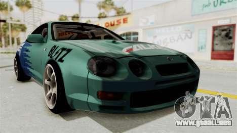 Toyota Celica GT Drift Falken para la visión correcta GTA San Andreas